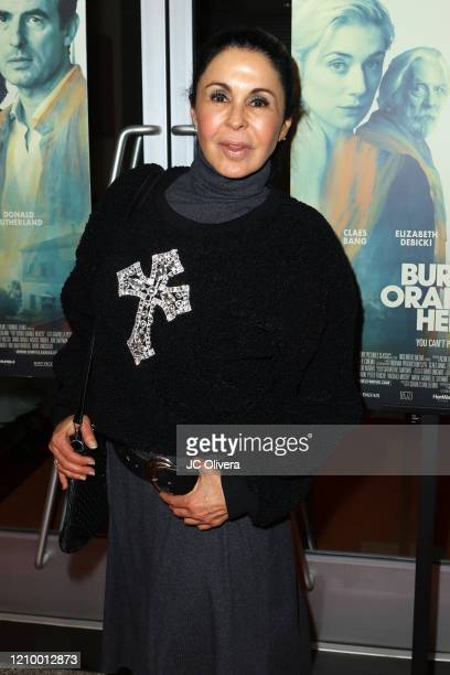 """Actress Maria Conchita Alonso attends the LA special screening of Sony's """"The Burnt Orange Heresy"""" at Linwood Dunn Theater on March 02, 2020 in Los..."""