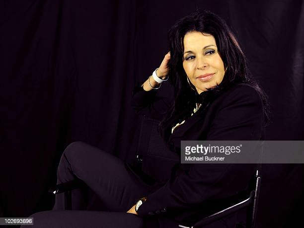 Actress Maria Conchita Alonso poses for a portrait at the Getty Images Studio on July 7 2010 in Los Angeles California