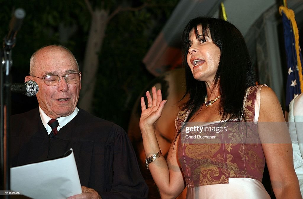 Maria Conchita Alonso Sworn In As US Citizen : News Photo