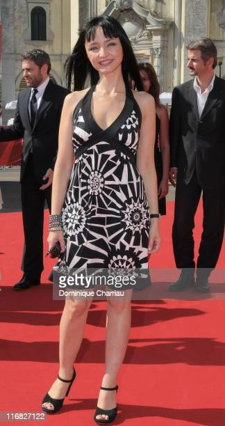Actress Maria de Medeiros attends the Il Compleanno Premiere at the Palazzo del Casino during the 66th Venice Film Festival on September 8 2009 in...
