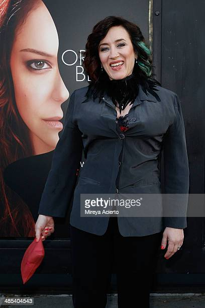 Actress Maria Doyle Kennedy attends the Orphan Black premiere at Sunshine Cinema on April 17 2014 in New York City