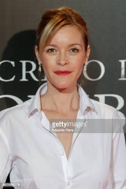 Actress Maria Esteve attends the 'El secreto de Marrowbone' photocall at Capitol cinema on October 24 2017 in Madrid Spain