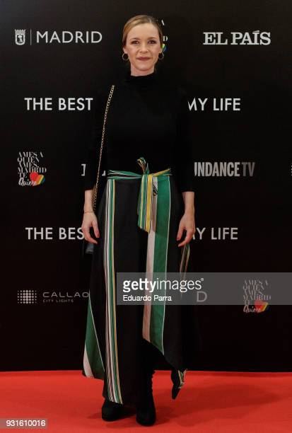 Actress Maria Esteve attends the 'The Best Day of My Life' premiere at Callao cinema on March 13 2018 in Madrid Spain