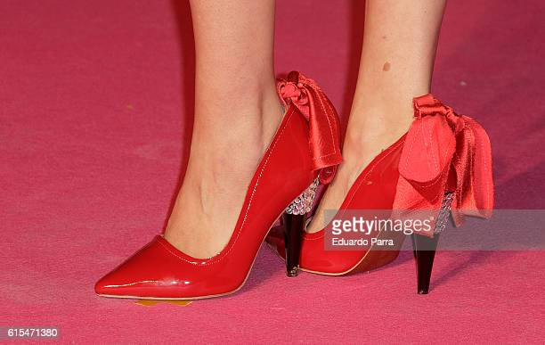 Actress Maria Esteve shoes detail attends the 'Cosmopolitan Fun Fearless Female' awards 2016 at La Riviera Disco on October 18 2016 in Madrid Spain