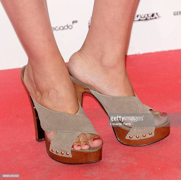 Actress Maria Esteve shoes detail attends the 'Gernika' premiere at Palafox cinema on September 5 2016 in Madrid Spain