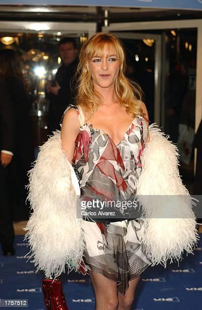 Actress Maria Estevez arrives at the 27th Spanish Cinema Goya Awards February 1 2003 at Palacio de Congresos in Madrid Spain