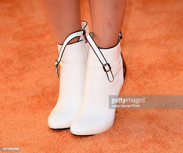 Actress Maria Gabriela de Faria shoe detail attends Nickelodeon's 28th Annual Kids' Choice Awards held at The Forum on March 28 2015 in Inglewood...