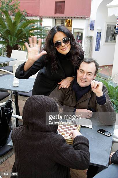 Actress Maria Grazia Cucinotta and her husband Giulio Violati attend the fourth day of the 13th Annual Capri Hollywood International Film Festival on...