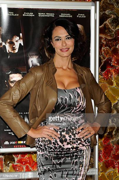 Actress Maria Grazia Cucinotta attends a photocall for 'Transgression' at Palafox Cinema on October 17 2011 in Madrid Spain
