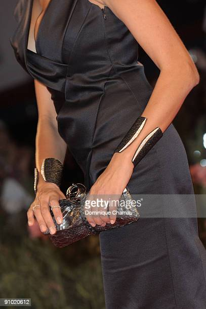 Actress Maria Grazia Cucinotta attends A Single Man Premiere at the Sala Grande during the 66th Venice Film Festival on September 11 2009 in Venice...