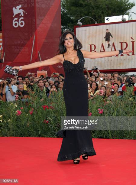Actress Maria Grazia Cucinotta attends the Closing Ceremony Red Carpet And Inside at The Sala Grande during the 66th Venice Film Festival on...