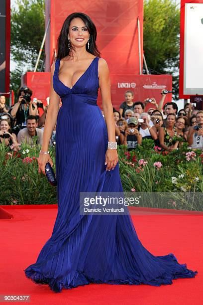 Actress Maria Grazia Cucinotta attends the Opening Ceremony and Baaria Premiere at the Sala Grande during the 66th Venice International Film Festival...