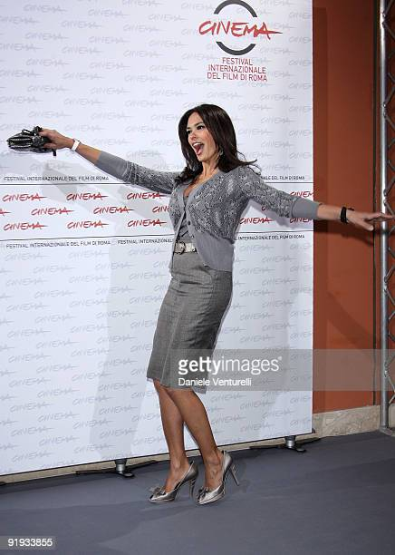 """Actress Maria Grazia Cucinotta attends the """"'Viola Di Mare"""" Photocall during day 2 of the 4th Rome International Film Festival held at the Auditorium..."""
