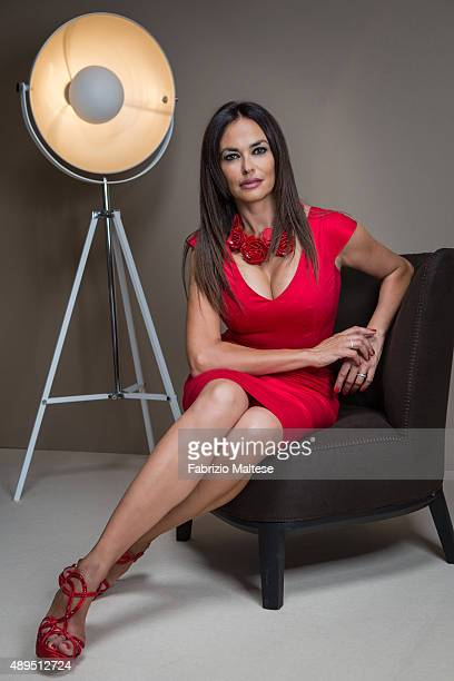Actress Maria Grazia Cucinotta is photographed for Self Assignment on September 5 2015 in Venice Italy