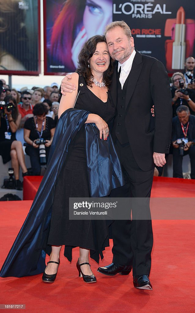 Actress Maria Hofstatter (L) and director Ulrich Seidl attend Award Ceremony And 'L'Homme Qui Rit' Arrivals during The 69th Venice Film Festival at the Palazzo del Cinema on September 8, 2012 in Venice, Italy.