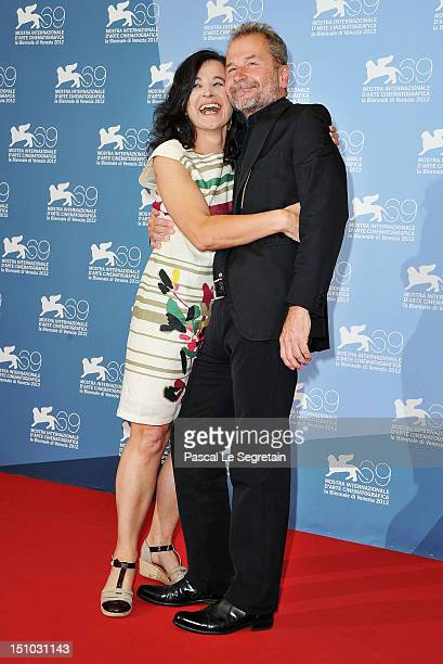 Actress Maria Hofstatter and director Ulrich Seidl attends the ParadiesGlaube photocall during the 69th Venice Film Festival at the Palazzo del...