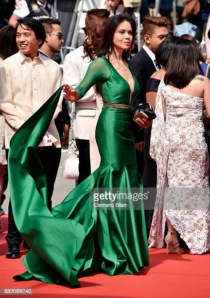 Actress Maria Isabel Lopez attends the 'Ma'Rosa' premiere during the 69th Annual Cannes Film Festival at the Palais des Festivals on May 18 2016 in...