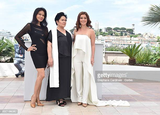Actress Maria Isabel Lopez Jaclyn Jos Andi Eigenmann attend the 'Ma' Rosa' Photocall during the annual 69th Cannes Film Festival at Palais des...