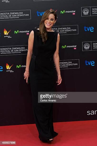 Actress Maria Joao Bastos attends the 'Casanova Variations' premiere at the Kursaal Palace during the 62nd San Sebastian Film Festival on September...