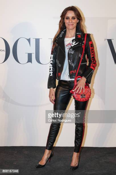 Actress Maria Joao Bastos attends the Vogue Portugal Party Photocall on October 5 2017 in Lisbon Portugal