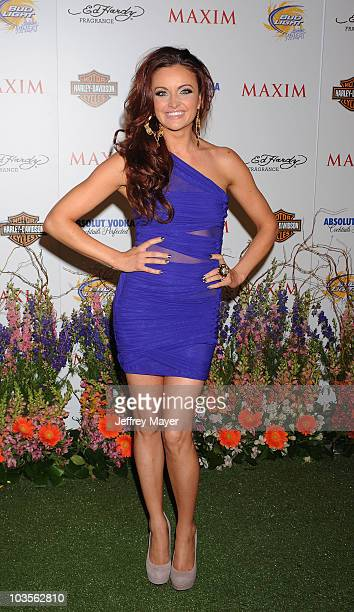 Actress Maria Kanellis arrives at the 11th Annual MAXIM HOT 100 Party at Paramount Studios on May 19 2010 in Los Angeles California