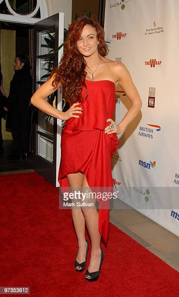 Actress Maria Kanellis attends TheWrapcom 2010 Awards Season Nominee Celebration at Four Seasons Hotel on March 1 2010 in Beverly Hills California