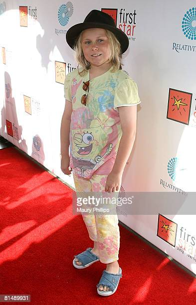 Actress Maria Lark attends the First Star Celebration for Children's Rights on June 7 2008 at the Wilshire Ebell in Los Angeles California