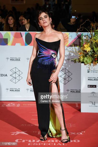 Actress Maria Leon attends the Malaga Film Festival 2019 closing day gala at Cervantes Theater on March 23 2019 in Malaga Spain