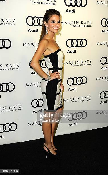 Actress Maria Menounos arrives at Audi Celebrates The 2012 Golden Globe Awards at Ceconni's on January 8 2012 in West Hollywood California