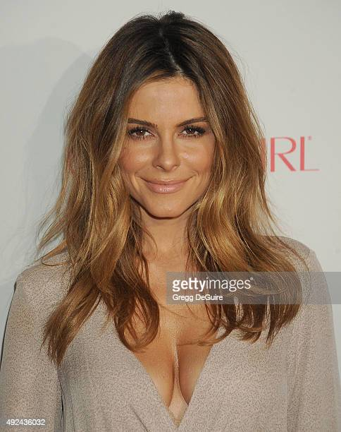Actress Maria Menounos arrives at Cosmopolitan Magazine's 50th Birthday Celebration at Ysabel on October 12 2015 in West Hollywood California