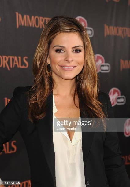Actress Maria Menounos arrives at Relativity Media's Immortals premiere presented in RealD 3 at Nokia Theatre LA Live on November 7 2011 in Los...