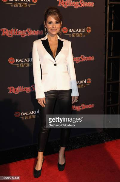 Actress Maria Menounos arrives at Rolling Stone's Bacardi Bash: 150 Years of Rocking The Party at The Crane Bay on February 4, 2012 in Indianapolis,...