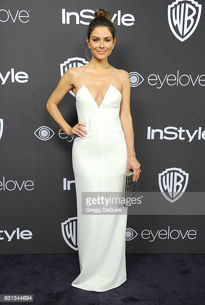Actress Maria Menounos arrives at the 18th Annual PostGolden Globes Party hosted by Warner Bros Pictures and InStyle at The Beverly Hilton Hotel on...