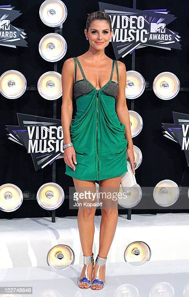 Actress Maria Menounos arrives at the 2011 MTV Video Music Awards held at Nokia Theatre LA Live on August 28 2011 in Los Angeles California