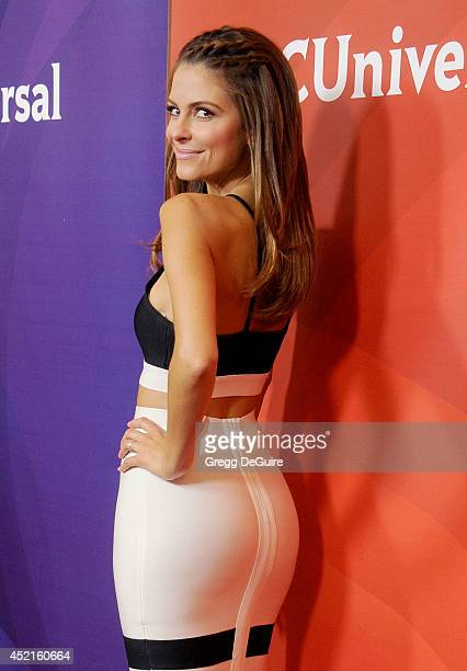 Actress Maria Menounos arrives at the 2014 Television Critics Association Summer Press Tour NBCUniversal Day 2 at The Beverly Hilton Hotel on July 14...