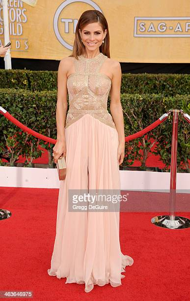 Actress Maria Menounos arrives at the 20th Annual Screen Actors Guild Awards at The Shrine Auditorium on January 18 2014 in Los Angeles California