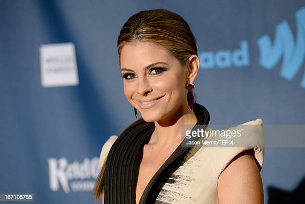 Actress Maria Menounos arrives at the 24th Annual GLAAD Media Awards at JW Marriott Los Angeles at LA LIVE on April 20 2013 in Los Angeles California