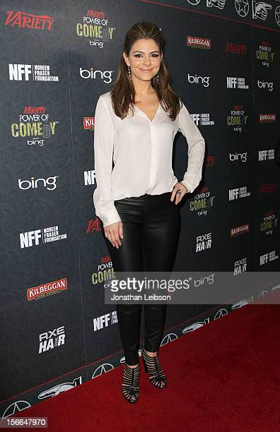 Actress Maria Menounos arrives at Variety's 3rd annual Power of Comedy event presented by Bing benefiting the Noreen Fraser Foundation held at Avalon...