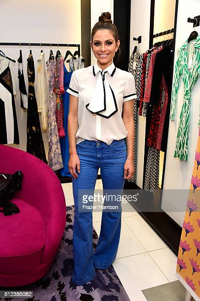 Actress Maria Menounos attends a shopping event at Diane von Furstenberg at The Grove to support the National Multiple Sclerosis Society on February...