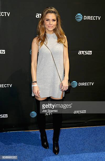 Actress Maria Menounos attends DirecTV Super Saturday Night Cohosted by Mark Cuban's AXS TV at Pier 70 on February 6 2016 in San Francisco California