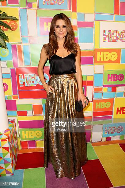 Actress Maria Menounos attends HBO's Official 2014 Emmy After Party at The Plaza at the Pacific Design Center on August 25 2014 in Los Angeles...