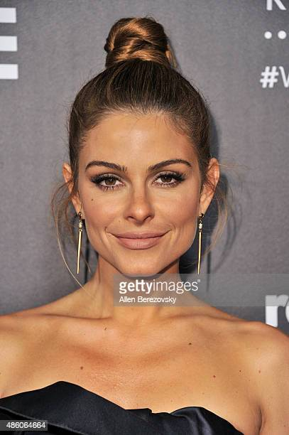Actress Maria Menounos attends Republic Records private PostVMA celebration at Ysabel on August 30 2015 in West Hollywood California