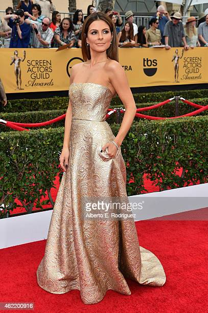 Actress Maria Menounos attends the 21st Annual Screen Actors Guild Awards at The Shrine Auditorium on January 25 2015 in Los Angeles California