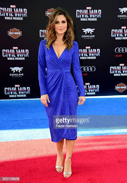 Actress Maria Menounos attends the premiere of Marvel's 'Captain America Civil War' at Dolby Theatre on April 12 2016 in Los Angeles California