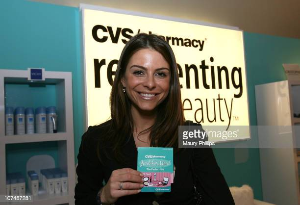 Actress Maria Menounos with CVS at the Access Hollywood Stuff You Must Lounge Presented by On 3 Productions at Sofitel Hotel on January 11 2008 in...