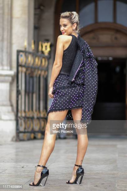 Actress Maria Pedraza attends the Balmain Womenswear Spring/Summer 2020 show as part of Paris Fashion Week on September 27 2019 in Paris France
