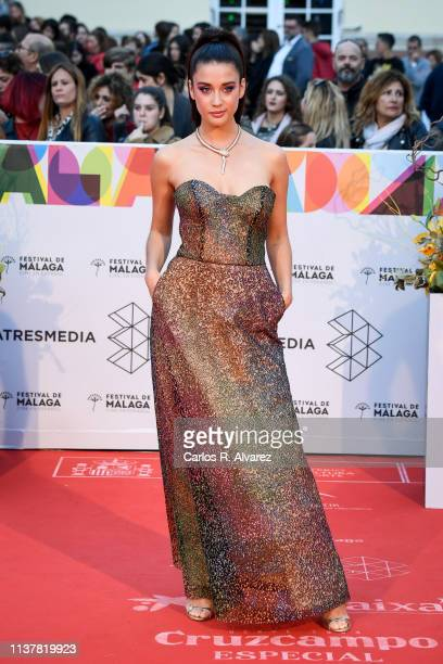 Actress Maria Pedraza attends the Malaga Film Festival 2019 closing day gala at Cervantes Theater on March 23 2019 in Malaga Spain