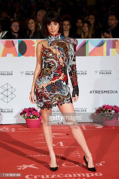 Actress Maria Pedraza attends the 'Retrospeciva' award ceremony during the 22th Malaga Film Festival on March 22 2019 in Malaga Spain