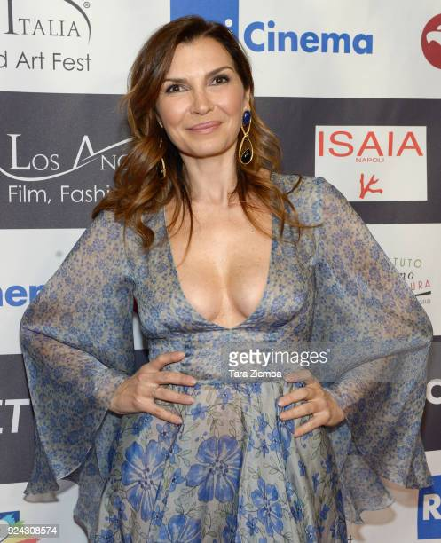 Actress Maria Pia Calzone attends the 13th Annual LA Italia Fest Film Fest opening night premiere of 'Hotel Gagarin' at TCL Chinese 6 Theatres on...