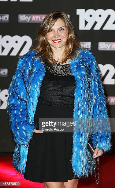 Actress Maria Pia Calzone attends the '1992' Tv Movie premiere at The Space Moderno on March 19 2015 in Rome Italy